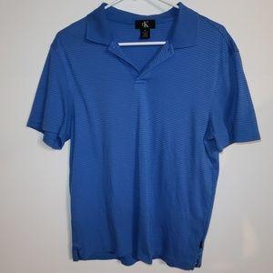 Calvin Klein Polo Shirt Men's Short Sleeve Striped